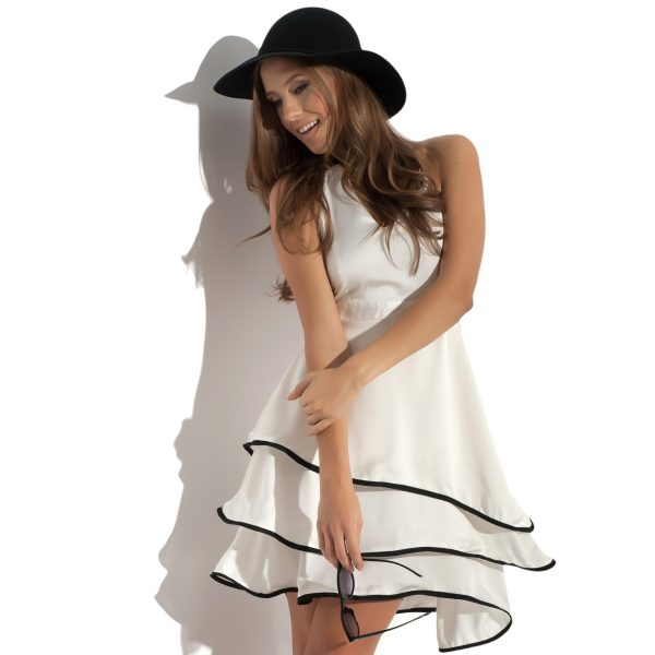 Robe en soie blanche Secret Wave
