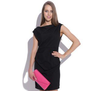 robe mini avec des plis