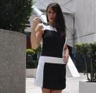 Two-tone mini dress Equinox