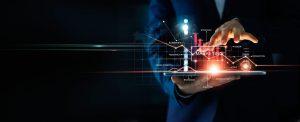 Digital,Online,Marketing,,Businessman,Using,Tablet,And,Analysis,Sale,Data