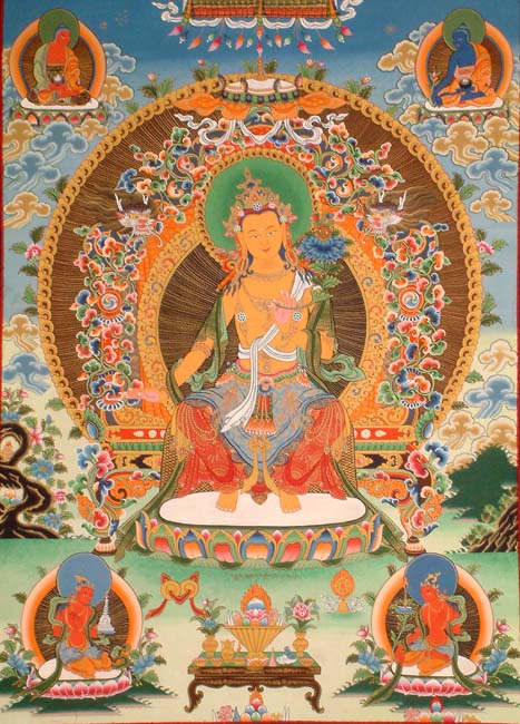 Maitreya Buddha and the White Dragon Trees