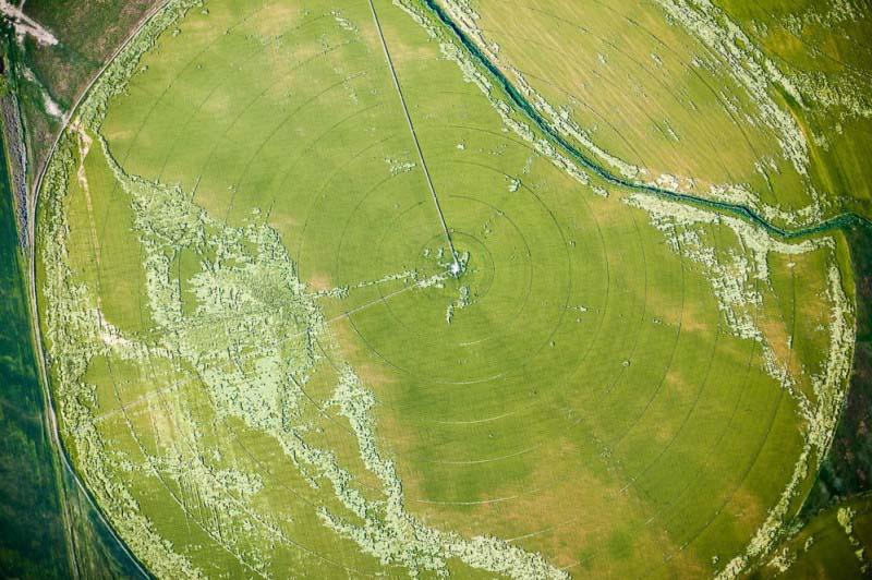 15. Sistema de irrigação no vale do rio Snake (EUA).