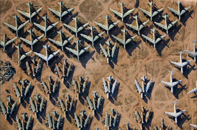 25. Estacionamento de aviões militares no Arizona (EUA)