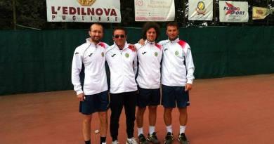 D1 Maschile: da destra verso sinistra Fabio Fossanova - Daniele Fossanova - Pasquale Crapuzzo - Giuseppe Guastamacchia