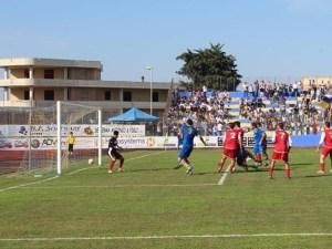 Uno dei cinque goal messi a segno dal Cerignola