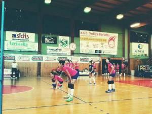 Una fase di gioco tra Volley Barletta e Leonessa Altamura