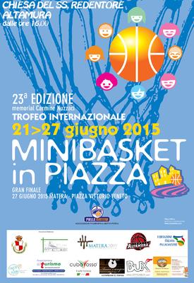 "La locandina di ""Minibasket in Piazza"""