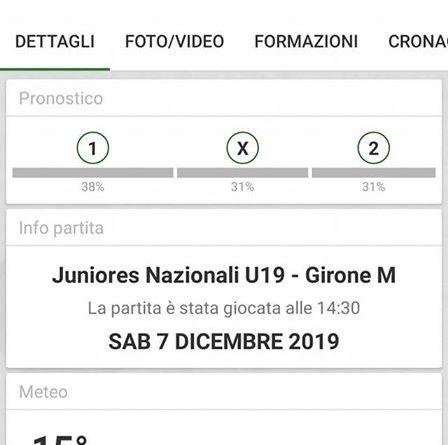 Calcio – Juniores Nazionali