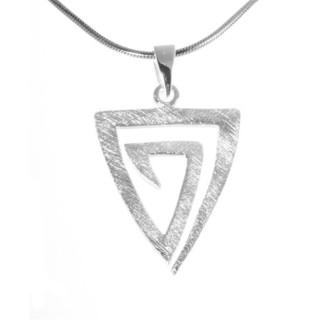 Dreieck  Silber Anhnger plain  gebrstet altansilverde der Gro