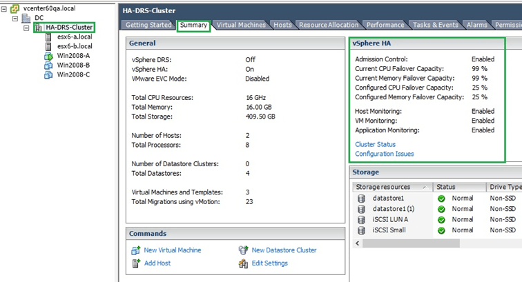Setting up VMware High Availability on a vSphere Cluster