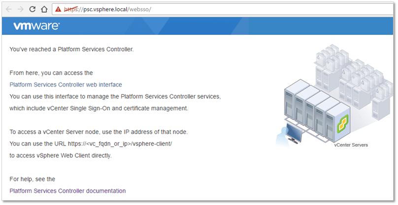 Upgrading to vSphere PSC 6 5 using the Windows installer