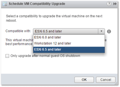 4 ways to Downgrade the VM hardware version