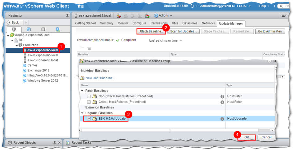 How to patch ESXi with Update Manager