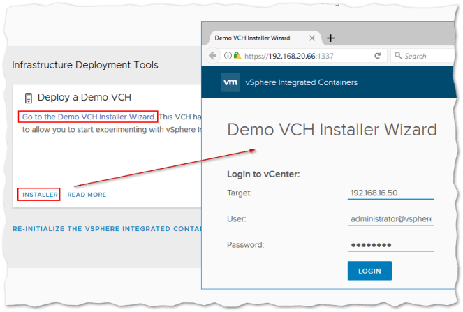 How to Deploy Containers Using vSphere Integrated Containers
