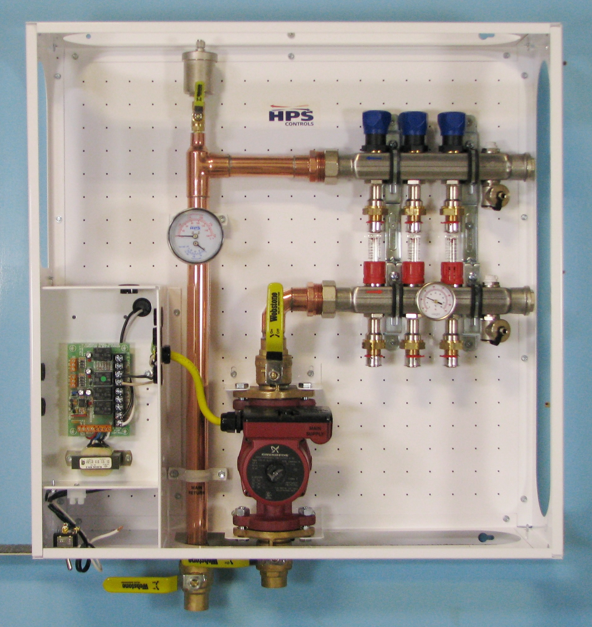 hight resolution of heating manifold station