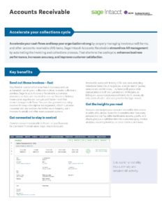 Accounts Receivable Datasheet