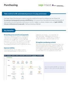 Purchasing Datasheet