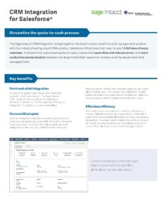 Salesforce Integration Datasheet
