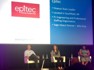 Epitec Staffing Comany at Sage Intacct's Advantage