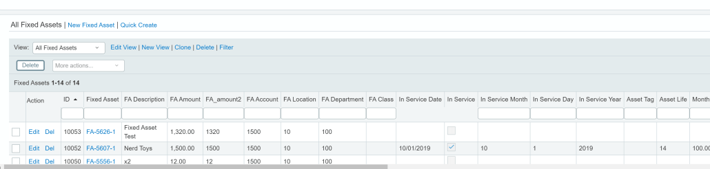 fixed assets in sage intacct