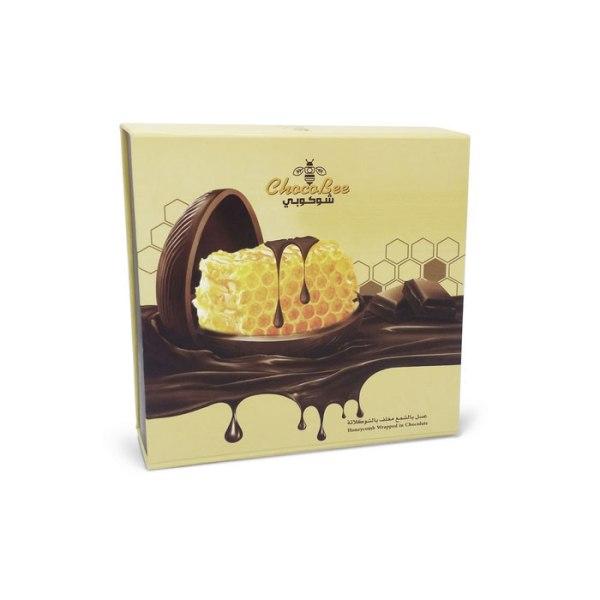 عسل بالشمع مغلف بالشوكولاتة