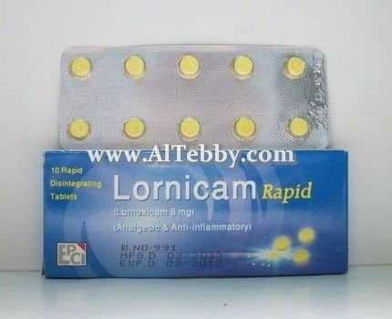 دواء drug لورنيكام رابيد Lornicam Rapid
