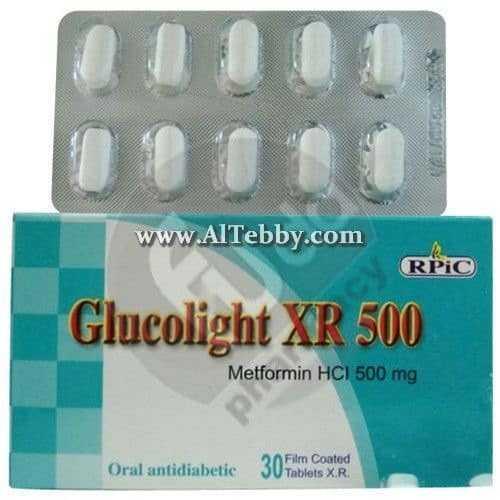 جلوكولايت إكس أر Glucolight XR دواء drug