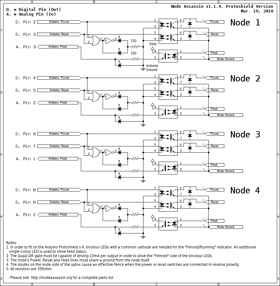 hight resolution of circuit diagram for the four port node assassin v1 1 4 protoshield variant
