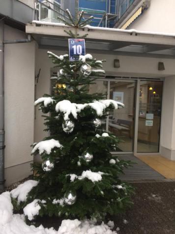 Weihnachtsbasar 2017 (verschneiter Weihnachtsbaum)