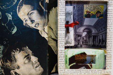 altered book assemblage artwork by Frank Turek