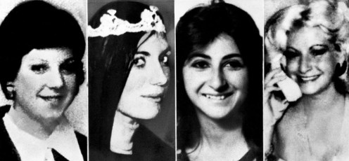 Four of the six people who were killed by David Berkowitz. From left are Valentina Suriani, Christine Freund, Virginia Voskerichian and Stacy Moskowitz.