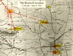 Roswell Crash Map 1947