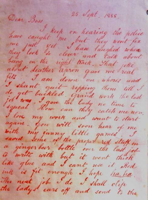 Page 1 of the Dear Boss letter