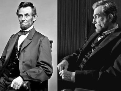 Abraham Lincoln and a lookalike