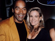 OJ and Nicole Simpson as a couple