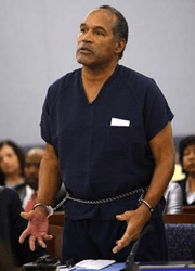 OJ Simpson during trial