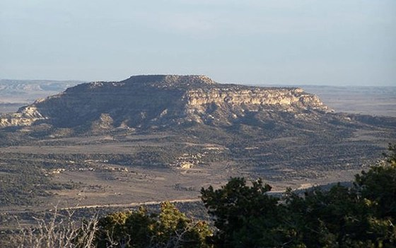Church of Scientology New Mexico base is on the othe side of this mesa