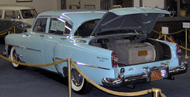 Howard Hughes car fitted with an air filtration system in the trunk