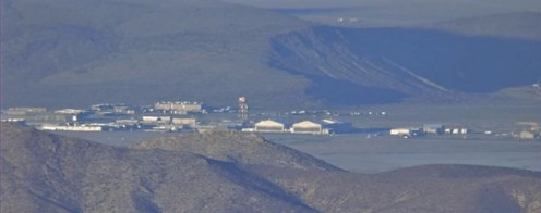 Area 51 from earlier viewing site (White Sides Mountain and Freedom Ridge) that has since been closed