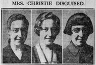 Agatha Christie disguised herself