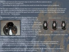 Snippet from the al-Qaidah Inspire newsletter giving terrorists instrucstion on how to make a pressure cooker bomb