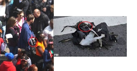 This man drew attention simply because he carried a backpack that looked identical to the bomber's backpack found in the street