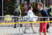 Bomb squad officials continue to look for other explosive devices