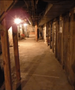 The cellar of the Harrisville Perron haunted house