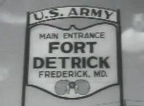 Entrance to Fort Detrick where early LSD experiments originated