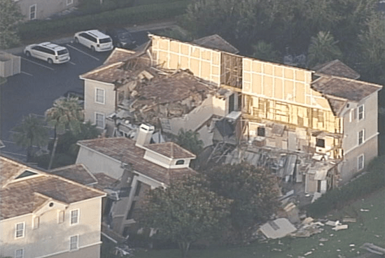 Disney World Resort buildings swallowed by massive sinkhole