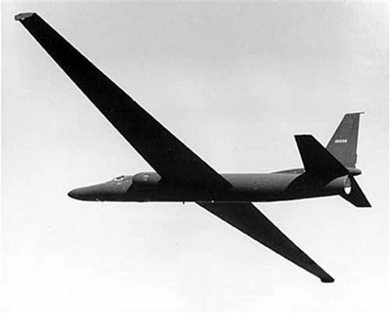 Prototype U-2 spy plane is tested at what became known as Area 51 in Nevada in a 1955 photo