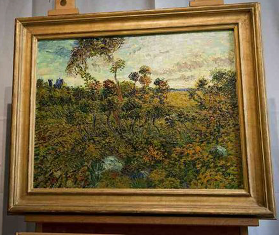 Lost Van Gogh painting, Sunset at Montmajour, found in attic of Norwegian collector