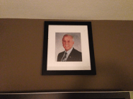 Standford Financial Group President Jay Comeaux painting hangs on wall of Room 322 in Houston, Texas Hotel ZaZa