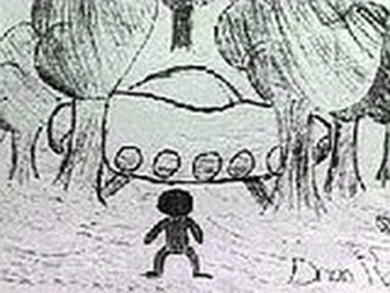 Zimbabe student drawing of Ariel School UFO sighting thumb